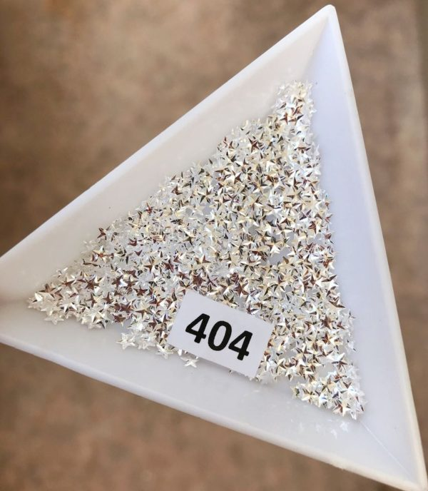 3Д-звездочки, 404 серебро (бл)
