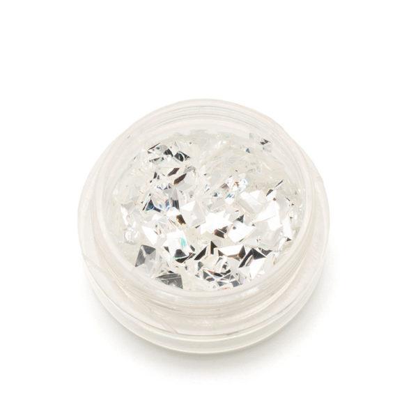 3Д-чешуя дракона ТНЛ, прямоугольники серебро