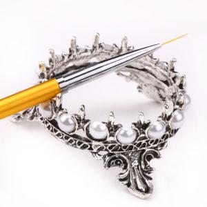 Подставка для кистей Корона, серебряная
