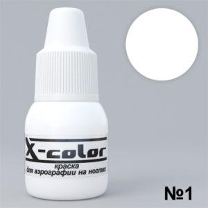 Краска для аэрографа X-color 01 белая, 15 мл