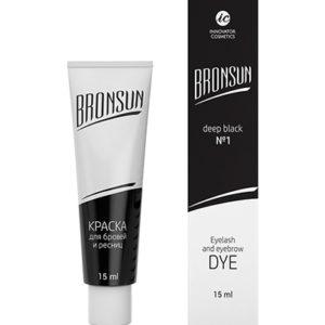 Краска для бровей и ресниц Bronsun №1, черная