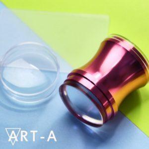Штамп АртА розовый 3,9 см + скрапер