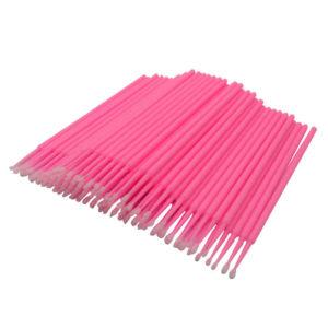 Микробрашинг для наращивания ресниц 100 штук, розовые (fine)