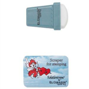 Односторонний штамп и скрапер для стемпинга Эль Коразон El Corazon k-sst-04 (резина), серый