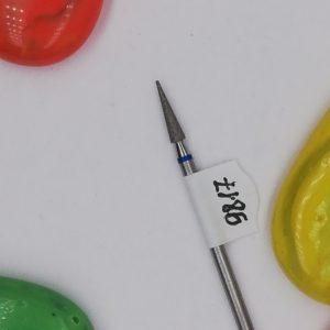 Алмазная фреза, игла 2,5 мм, синяя (Россия)
