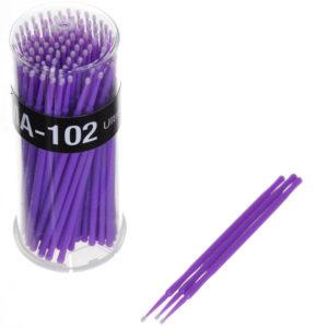 Микробраши в баночке 2 мм, 100 шт (фиолетовые)