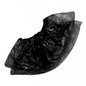 Бахилы п/э черные (стандарт), 50 пар