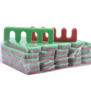 Разделители для пальцев ног (зеленые, красные), 20 пар - 40 штук