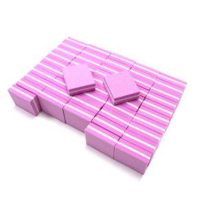 Баф-мини Divinail розовый, 100/180 50 шт