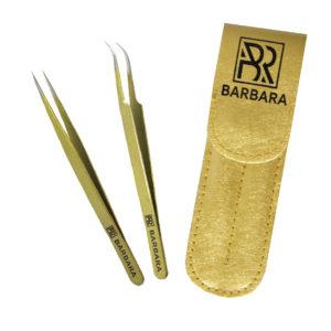 Набор пинцетов Барбара, золото