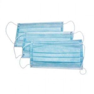 Маска медицинская 3-х слойная (голубая), 3 штуки