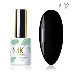 Гель-лак MIO nails A-02 черная жемчужина, 8 мл