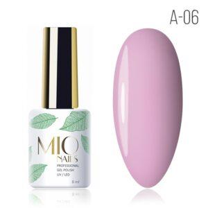 Гель-лак MIO nails A-06 розовый зефир, 8 мл