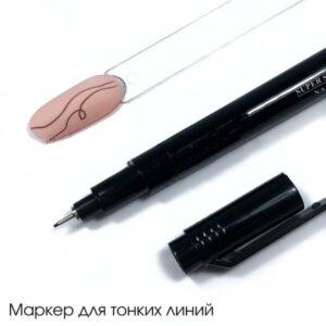 Ручка-маркер для росписи ногтей Старлет, черная