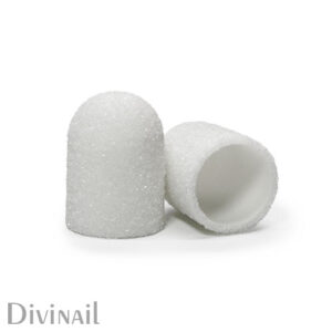 Колпачки белые Divinail, 10 мм, 240 грит (5 штук)