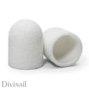 Колпачки белые Divinail, 13 мм, 240 грит (5 штук)