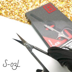 Ножницы для кутикулы Nippon Nippers S-03L (90 мм), для левшей изогнутые