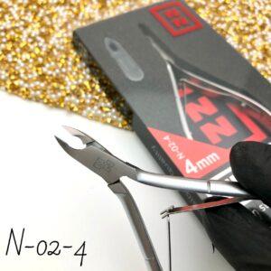 Кусачки для кутикулы Nippon Nippers N-02-4, 4 мм (двойная пружина)