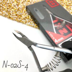 Кусачки для кутикулы Nippon Nippers N-02S-4, 4 мм (спираль)