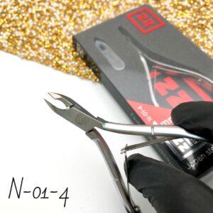 Кусачки для кутикулы Nippon Nippers N-01-4, 4 мм (двойная пружина)