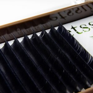 Ресницы Etssu черные (15 линий), C-0,07 12мм
