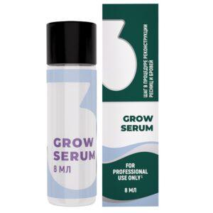 Лосьон-сыворотка для реконструкции ресниц и бровей Sexy №3 Grow Serum, 8 мл