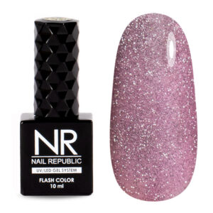 Гель-лак Nail Republic Flash Светоотражающий №02 Розовый, 10 мл