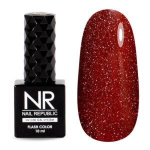 Гель-лак Nail Republic Flash Светоотражающий №01 Красный, 10 мл