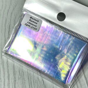 Фольга Rainbow (битое стекло) розово-золотой отлив, 5150